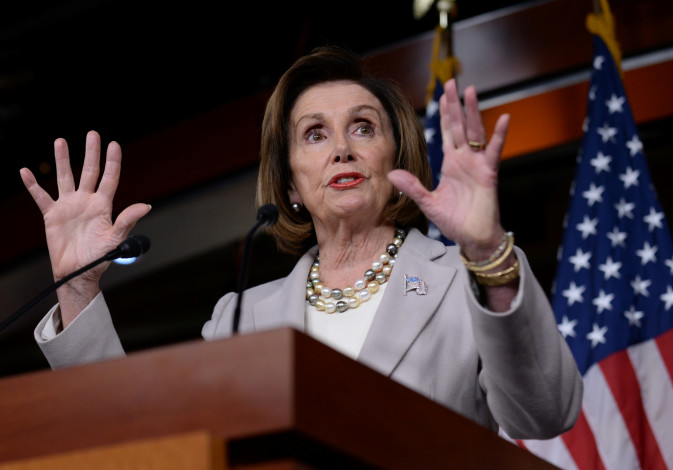 U.S. House Speaker Nancy Pelosi speaks during a news conference on Capitol Hill in Washington, U.S.,