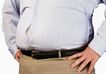 Overweight man [Illustrative] (photo credit: INGIMAGE)