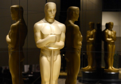 An Oscar statue is seen in Beverly Hills (photo credit: REUTERS)