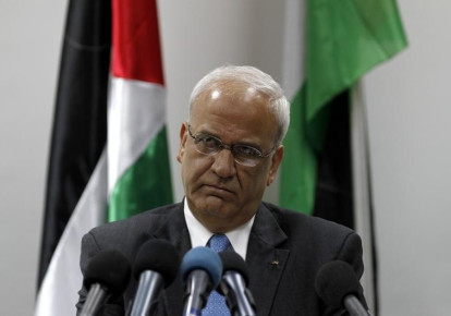 Chief Palestinian negotiator Saeb Erekat (photo credit: REUTERS)