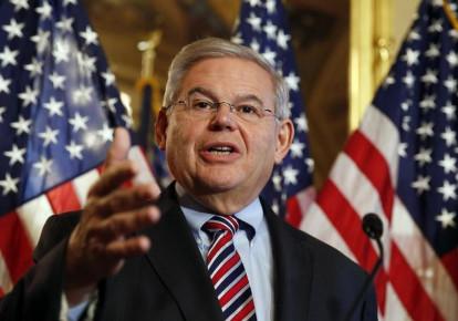 US Sen. Robert Menendez (D-NJ) speaks about immigration reform at a news conference on Capitol Hill (photo credit: REUTERS)