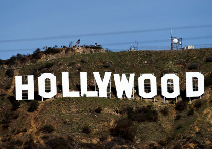 A view of the iconic Hollywood sign (photo credit: KEVORK DJANSEZIAN/REUTERS)