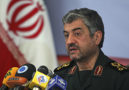 Mohammad Ali Jafari, commander of the Islamic Revolutionary Guard Corp, attends a news conference in Tehran February 7, 2011. (photo credit: REUTERS)
