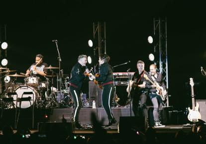 Take That perform at Tel Aviv's Menora Mitvachim Arena, November 27, 2017  (photo credit: ORIT PNINI)