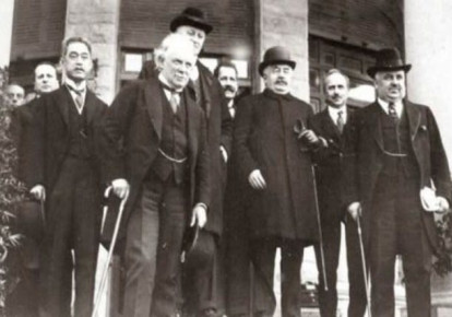 Delegates to the San Remo Conference of 1920.  (photo credit: Wikimedia Commons)