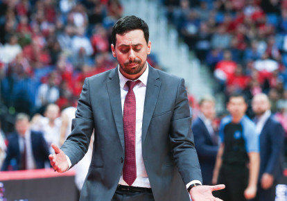 Hapoel Jerusalem coach Mody Maor was lost for answers as his team was easily beaten by Bayern Munich in Eurocup action in Germany. (photo credit: DANNY MARON)