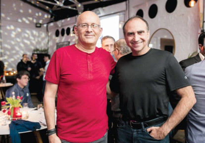 FROM LEFT, Yoram Yaacovi and Yossi Matias (photo credit: TOMER POLTIN)