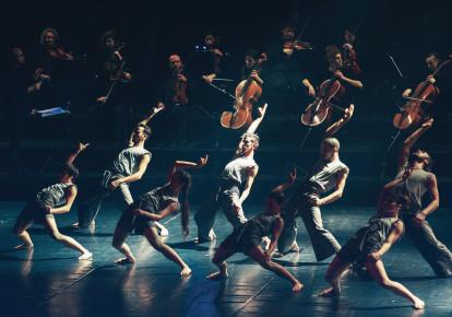 Vertigo Dance Company performs 'White Noise 2018' (photo credit: RUNE ABRO)