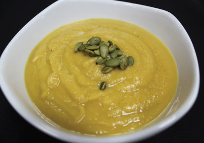 Full-filling butternut squash soup (photo credit: YAKIR LEVY)