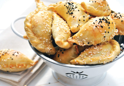 Pastries with spinach and cheese (photo credit: PASCALE PEREZ-RUBIN)