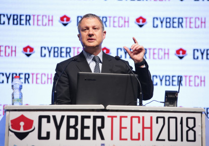 Dr. Erel Margalit, founder of the JVP Foundation, speaking at the Cybertech conference in Tel Aviv. (photo credit: DROR SITAHKOL)