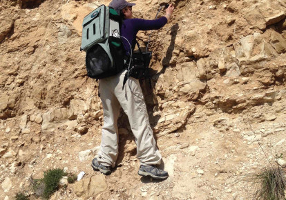 Dr. Lonia Friedlander doing research in the field. (photo credit: Courtesy)