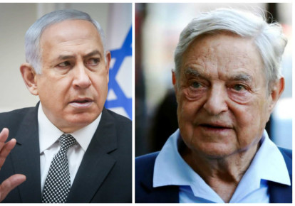 Benjamin Netanyahu and George Soros (photo credit: REUTERS + MARC ISRAEL SELLEM)