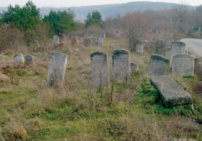 WHAT REMAINS of the Jewish cemetery in Buczacz today (photo credit: Wikimedia Commons)