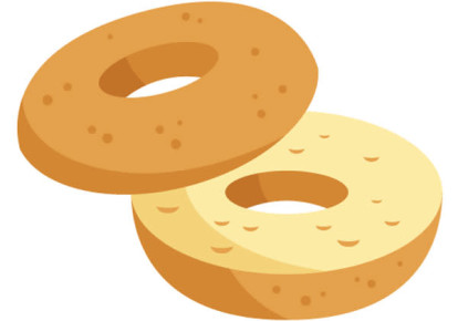 The new bagel emoji. (photo credit: UNICODE CONSORTIUM)
