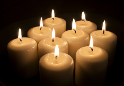 Memorial candles. (photo credit: INGIMAGE)