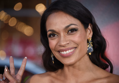 Actress Rosario Dawson (photo credit: PHIL MCCARTEN/REUTERS)
