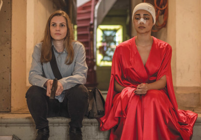 The movie is a showcase for actresses Neta Riskin (left) and Golshifteh Farahani (photo credit: COURTESY UNITED KING FILMS)