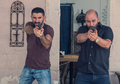 Tzachi Halevy and Lior Raz star in Fauda (photo credit: RONEN ACKERMAN)