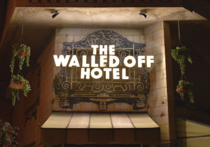 The entrance to the Walled Off Hotel (photo credit: TRISTAN DAVIS)