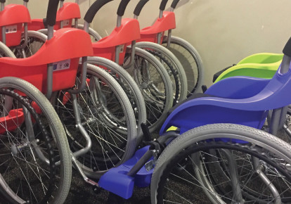 Wheelchairs of Hope: Putting wheels in motion to change people's lives (photo credit: BENITA LEVIN)
