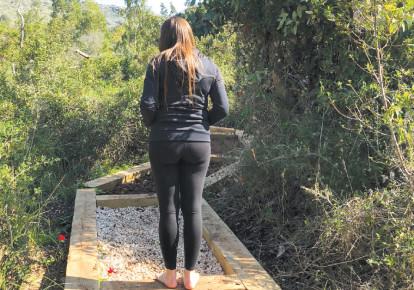 Hiking in the Carmel (photo credit: MEITAL SHARABI)