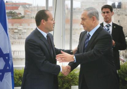 Jerusalem Mayor Nir Barkat with Prime Minister Benjamin Netanyahu (photo credit: MARC ISRAEL SELLEM)