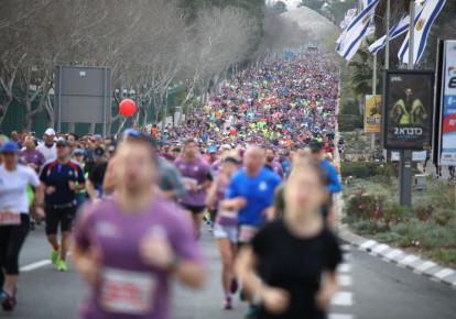 Jerusalem Marathon, March 2018 (photo credit: YITZHAK KELMAN/ TPS)