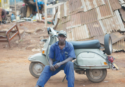 A work from 'Uganda's Vespa Club' (photo credit: ARIEL TAGAR)