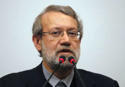 Iran's parliament speaker Ali Larijani holds a news conference in Istanbul January 22, 2015  (photo credit: OSMAN ORSAL/REUTERS)