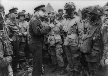General Dwight D. Eisenhower, the Supreme Allied Commander, asked Winston Churchill to send British parliamentarians to Buchenwald. (photo credit: NATIONAL LIBRARY OF ISRAEL)
