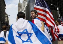 Israeli Flags and US flags