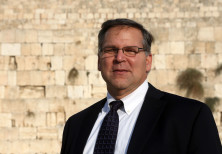 Jerry Silverman standing at the Western Wall.