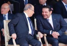 Saad al-Hariri talks with Lebanese President Michel Aoun