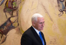 US Vice President Mike Pence seen during a visit to the Knesset, Israeli Parliament, in Jerusalem