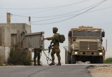 IDF soldiers searching the area after West Bank stabbing attack