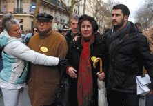 BEATE AND SERGE Klarsfeld attend a gathering in March 2018 in Paris in memory of Mireille Knoll, a H