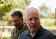 U.S. Envoy for Middle East negotiations Jason Greenblatt on a visit in Israel