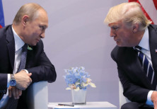 Russia's President Vladimir Putin faces off with US President Donald Trump at the G20 summit in Hamb