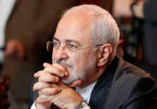 Iranian Foreign Minister Mohammad Javad Zarif attends a meeting