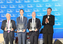 Dr. Mike Evans, head of FOZ, Jason Greenblatt, Jared Kushner and David Friedman.