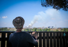 Brushfires rage in southern Israel from incendiary kites launched from Gaza