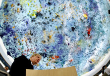 Britain's Foreign Secretary Boris Johnson attends the Human Rights Council at the United Nations in