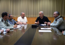Prime Minister Benjamin Netanyahu in meeting discussing the situation in Gaza with Defense Minister