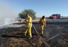 Israel's fire and rescue service extinguished 15 blazes were set by incendiary device, 2018