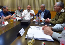 Prime Minister Benjamin Netanyahu, Minister of Defense Avigdor Liberman, Chief of Staff Eizenkot and