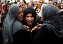 A relative of Palestinian gunman Naji al-Zaneen, who was killed in an Israeli air strike