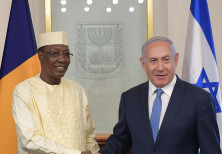 Israeli Prime Minister Benjamin Netanyahu with Chad President Idriss Déby
