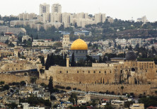 A general view of Jerusalem's old city shows the Dome of the Rock in the compound known to Muslims a