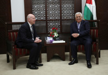Palestinian President Mahmoud Abbas meets with Jason Greenblatt
